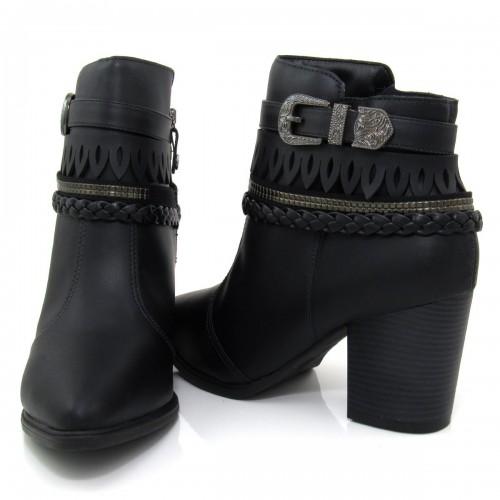 Bota Vizzano  Ankle Boot 3048103 na cor PRETO