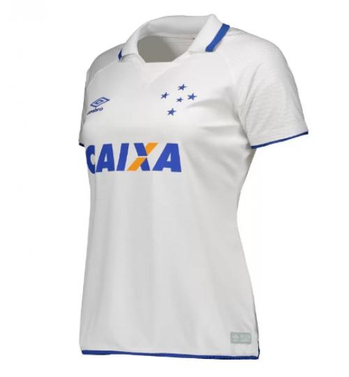 95a280866c173 Camisa Umbro Cruzeiro II 2017 Oficial S N Feminina na cor BRANCO ...