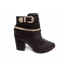 Bota Vizzano  Ankle Boot 3048103 na cor CAFE