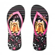CHINELO RAFITTHY BE FOREVER 91701 na cor PRETO/ROSA