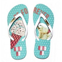 CHINELO RAFITTHY BE FOREVER 91702 na cor VERDE AGUA