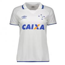 Camisa Umbro Cruzeiro II 2017 Oficial S/N Feminina na cor BRANCO